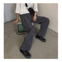 Koiyua - Couple Matching Lettering Straight Fit Pants