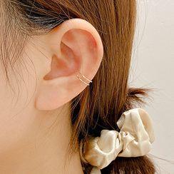 LIVSIA - Layered Alloy Cuff Earring