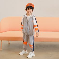Nootka - Kids Set: Color Block Zip Jacket + Harem Pants