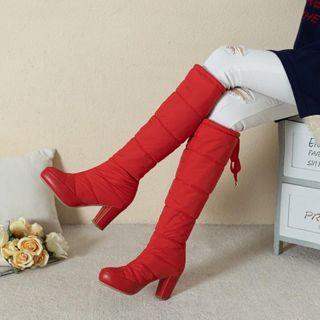 Udin - 厚底粗跟夹层高身靴