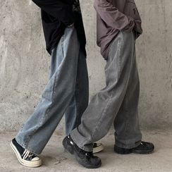 Porstina - High-Waist Straight-Cut Jeans