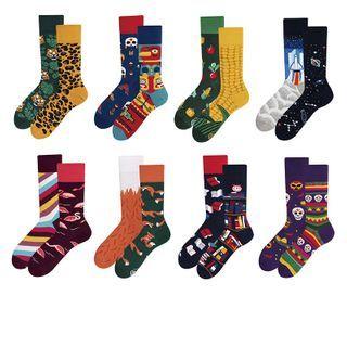 ASAIDA - 不對稱印花襪子
