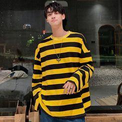 GRAYCIOUS - Long-Sleeve Striped T-Shirt
