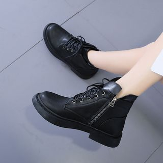 Mowin - Lace-Up Short Boots