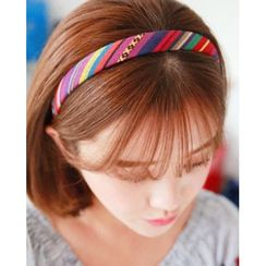 Miss21 Korea - Rainbow-Stripe Hair Band