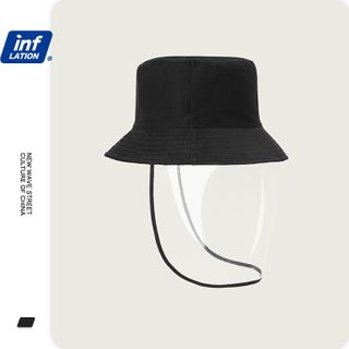 Newin - Bucket Hat with Face Shield  (Anti Droplets)