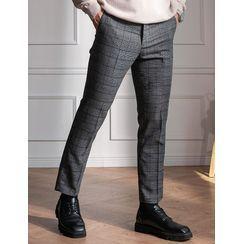 STYLEMAN - Glen-Plaid Dress Pants