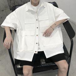 Citigleam - Elbow-Sleeve Shirt