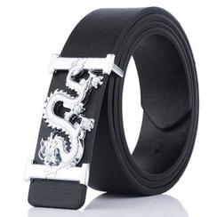 dandali - Dragon Buckle Faux Leather Belt