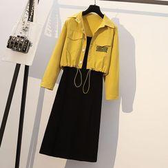 FABUR - Set: Jacket + Midi A-Line Dress