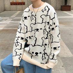 YERGO - Bear Jacquard Sweater