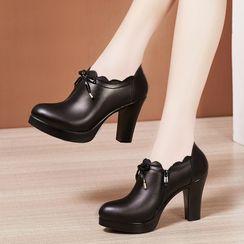 Hannah - 厚底粗跟及踝靴