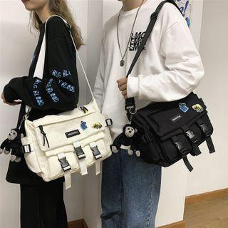 EAVALURE - Buckled Nylon Crossbody Bag