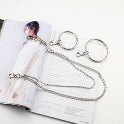 Rofuka - Metal Hoop Layered Waist Chain