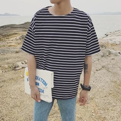 CooLook - Striped Short-Sleeve T-Shirt