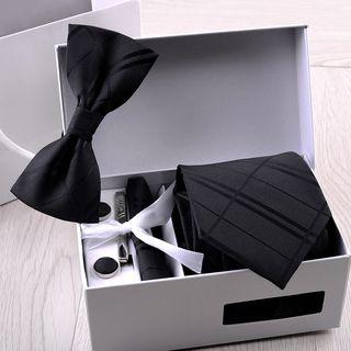 Prodigy - 套裝: 領帶 + 蝴蝶結領結 + 口袋巾 + 領帶夾 + 袖扣
