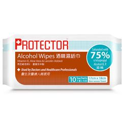 Advance Pharmaceutical - Protector 75% Alcohol Wipes (1 pack - 10pcs)