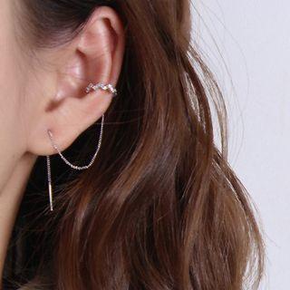 Kokyu - Rhinestone Threader Earring