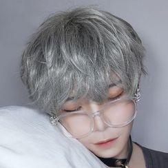 Aynu - Short Full Wig - Wavy / Hair Care Set