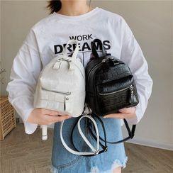 Tango Sky - Croc Grain Mini Backpack