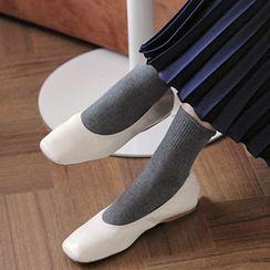 FROMBEGINNING - Square-Toe Ballerina Flats