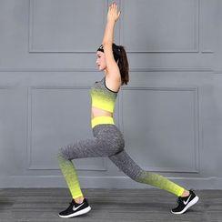 Loville - Set: Gradient Sports Bra + Yoga Pants