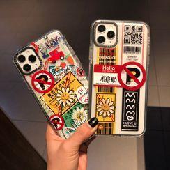 Huella - 邹菊标签手机壳For iPhone SE / 7 / 7 Plus / 8 / 8 Plus / X / XS / XR / XS Max / 11 / 11 Pro