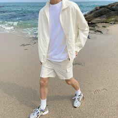 MRCYC - Set of 2: Long-Sleeve Jacket + Plain Shorts