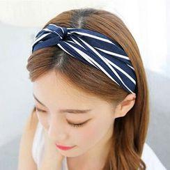 MOROE - 条纹布艺结式头带