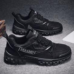 TATALON - 字母仿麂皮系带休閒鞋