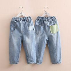 貝殼童裝 - 小童口袋牛仔褲
