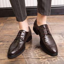 WeWolf - Faux Croc Grain Oxford Shoes