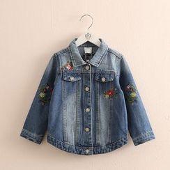 Seashells Kids - Kids Embroidered Buttoned Denim Jacket