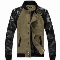 Free Shop - 雙色單排扣夾克