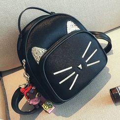 shinescape - 小貓仿皮背包