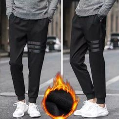 Wescosso - Plain Sports Cropped Pants