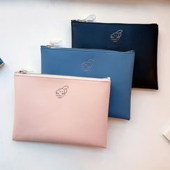 BABOSARANG(バボサラン) - 'COMELY' Embossed Pouch (S)