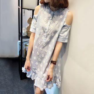 Yohana - Cutout Shoulder Mini Dress