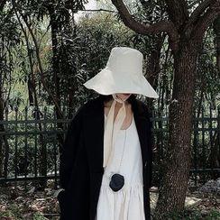 HATHOT - Plain Wide Brim Bucket Hat
