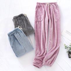MelMount - Couple-Matching Fleece Pajama Pants