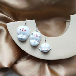 Riceo - Face Mask Ceramic Drop Earring