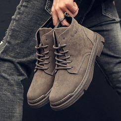 Viffara - Lace-Up Short Boots