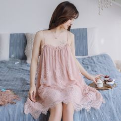Ciambella - 蕾丝细肩带睡裙