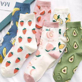 Mimiyu - 五件套裝: 印花短襪