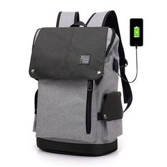 Golden Kelly - Canvas Computer Backpack