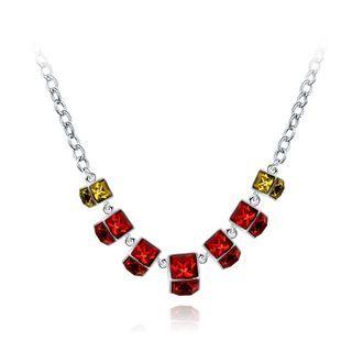 BELEC - Elegant Noble Geometric Red Square Necklace