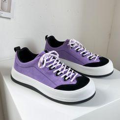Lazi Boi - Color Block Lace-Up Sneakers