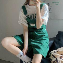 Maisee - 牛仔背带短裤