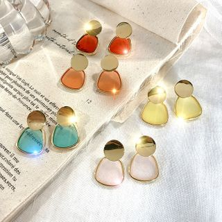 LIVSIA - Transparent Disc Dangle Earring