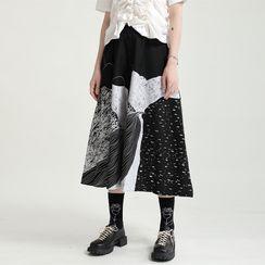 Ultra Modern - Print Midi Skirt